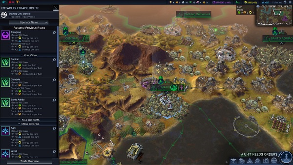 Civilization: Beyond Earth | The New Trade Screen Menu