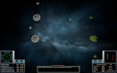 Aphelion Tactical Space Combat Screen