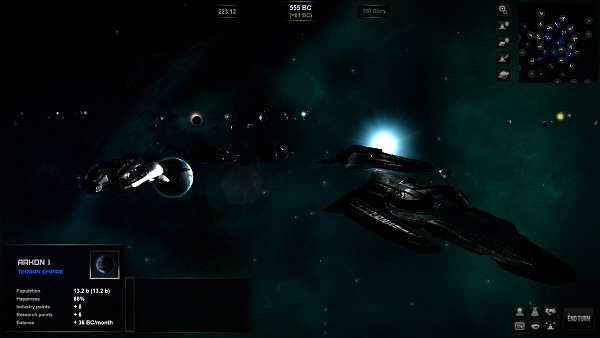 Star Lords | Galaxy view (rotated) with ships screenshot