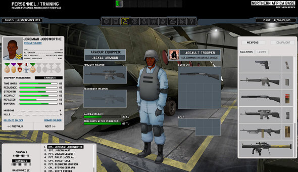 Xenonauts | Soldier equipping screen (part of major UI overhaul)