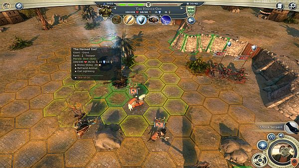 Age of Wonders 3 - A tactical grid shows how many actions are used based on how far you move
