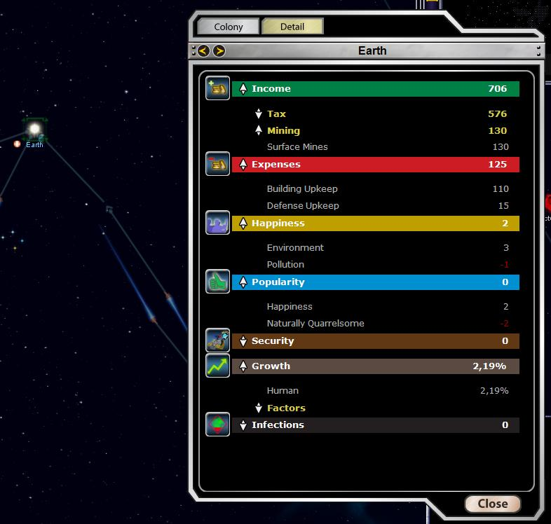 Armada 2526 - Planet Stats Screen (detail view)