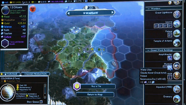 PAX East 2013 | Civ5: Brave New World - Great Work buildings and Tourism system