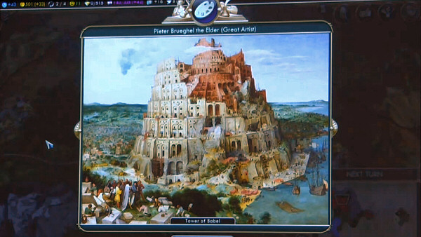 PAX East 2013 | Civ5: Brave New World - Tower of Babel Great Work by Great Artist