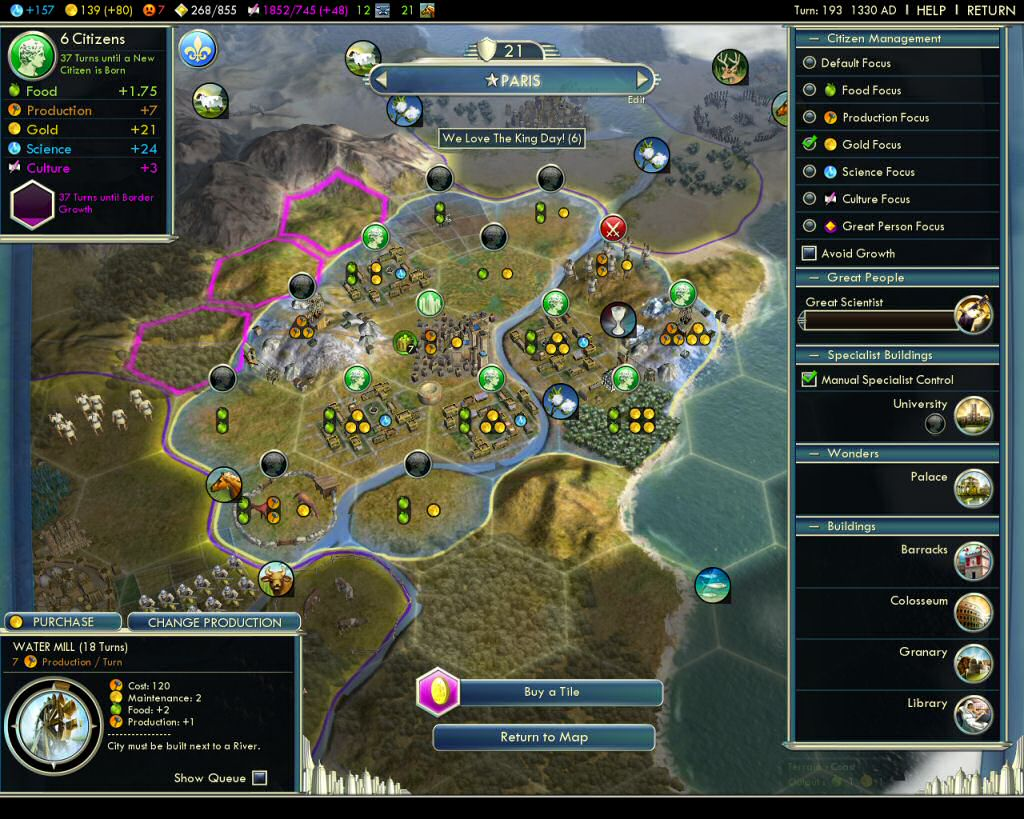 Civ5: City Screen