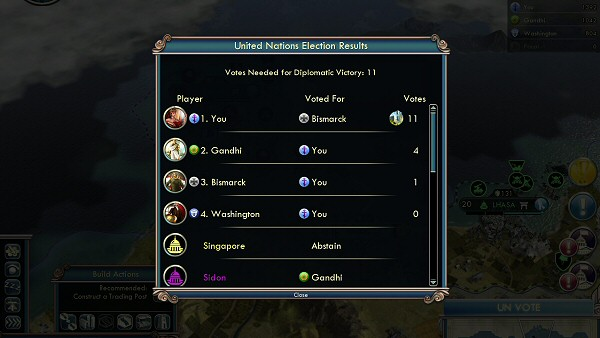 Civ5: Gods & Kings - Diplomatic Victory