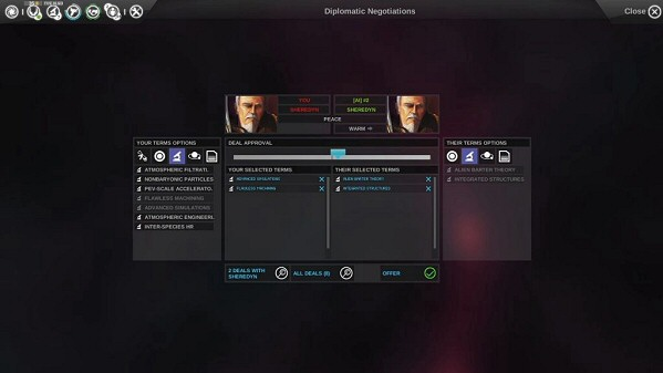 Endless Space | Diplomacy screen