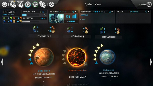 Endless Space | Alpha Version - System Screen