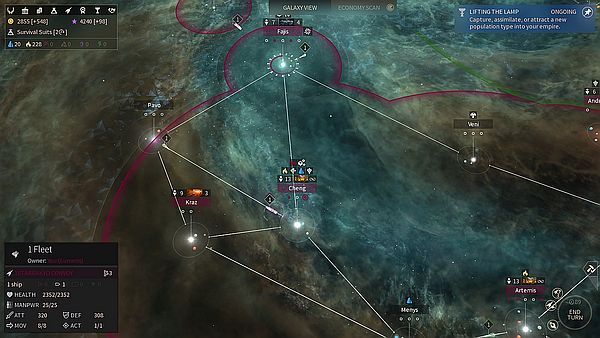 Endless Space 2 Early Access - A lot of starlanes, but there's some free travel in the northwest