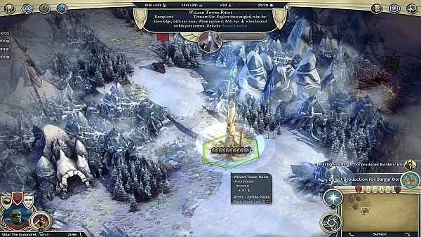 Age of Wonders 3 Golden Realms Review | Now I just need to get a city built next to this tower.