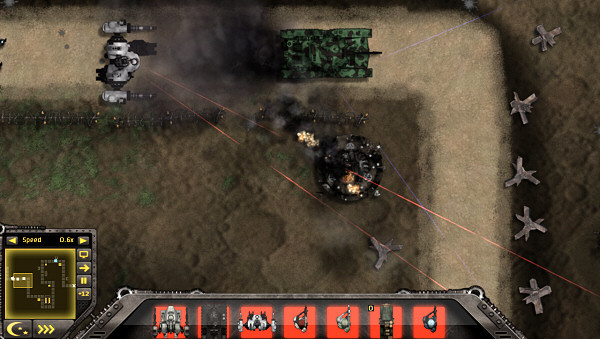 Gratuitous Tank Battles: Tank in the battlefield.