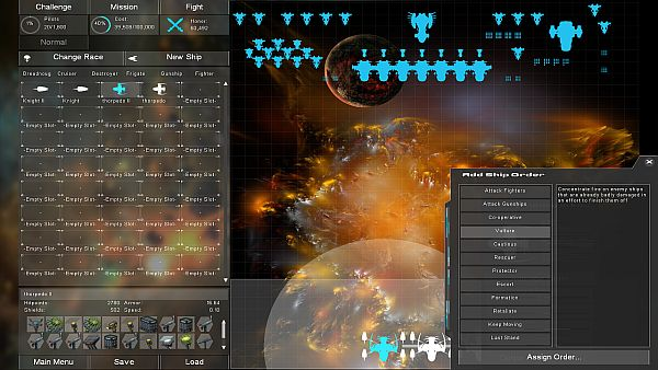 Gratuitous Space Battles 2 Beta | Assigning an order to a dreadnought