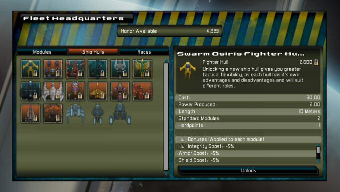 GSB: Fleet HQ Screen