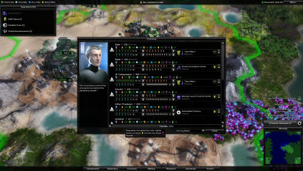 Pandora: First Contact | Economy management screen
