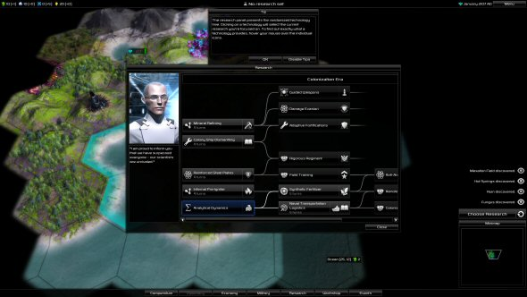 Pandora: First Contact - Randomly generated research tree