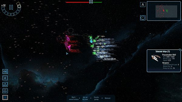 Polaris Sector | A typical battle later in the game