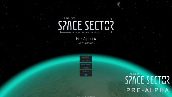 Project Space Sector: Main Menu (Pre-Alpha)