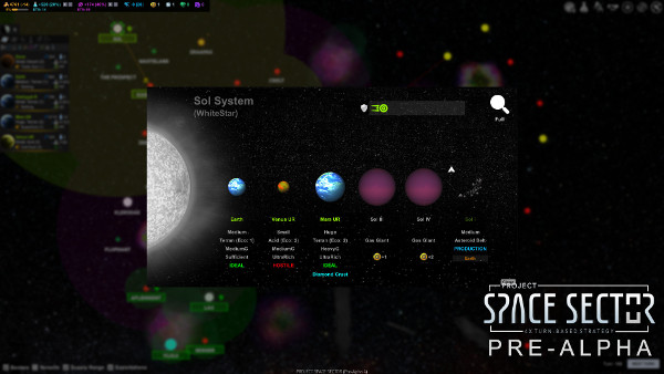 Project Space Sector: System View (Pre-Alpha)