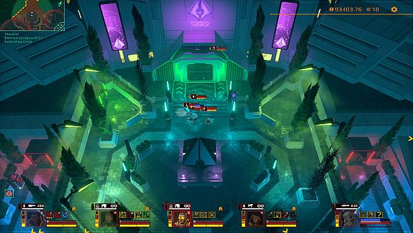 Satellite Reign Review | The Cult of the Eternals prefers a more subdued purple hue and actual trees