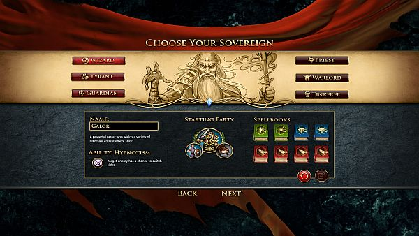 Sorcerer King Early Access | 3 of the 6 pre-configured sovereigns are available in beta 2.