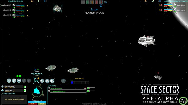 Project Space Sector | Current ship combat view (Pre-Alpha)