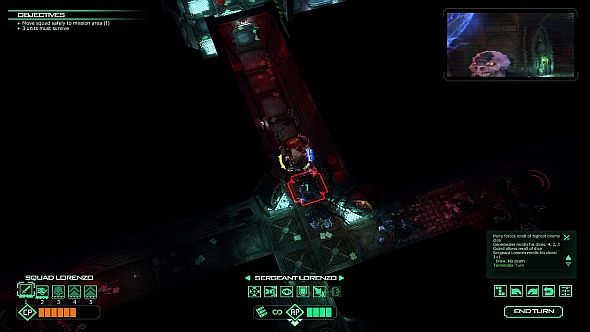 Space Hulk: Check the top right for the FPS look at a Genestealer
