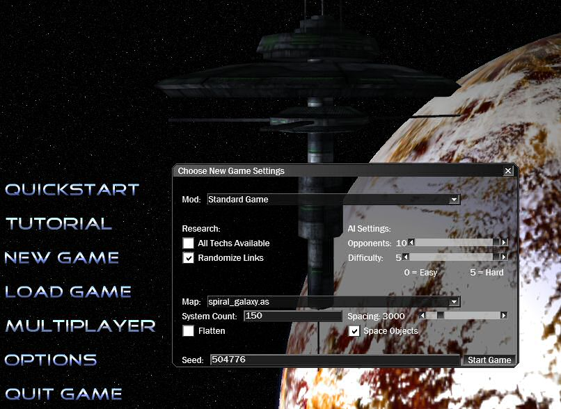 Star Ruler: Setting Up a New Game