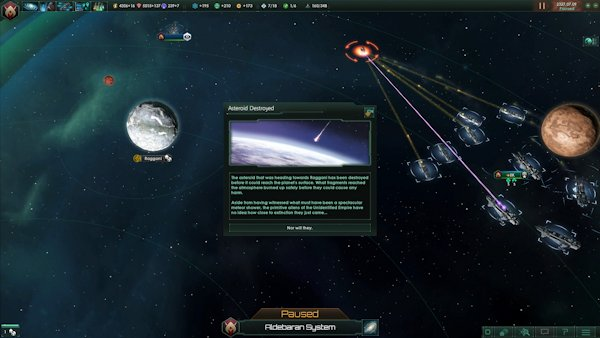 Stellaris | I guess the dinosaurs didn't have an evil space empire watching over them.