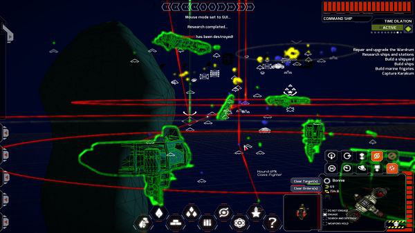"Void Destroyer | ""Homeworld"" style tactical screen"