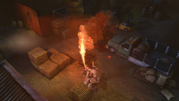 XCOM: Enemy Within   Mech class flame thrower