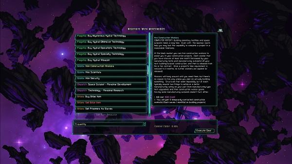 The Last Federation | Negotiating with Mercenaries