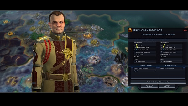 Civilization: Beyond Earth | Pure Russia surrenders to Cyber America