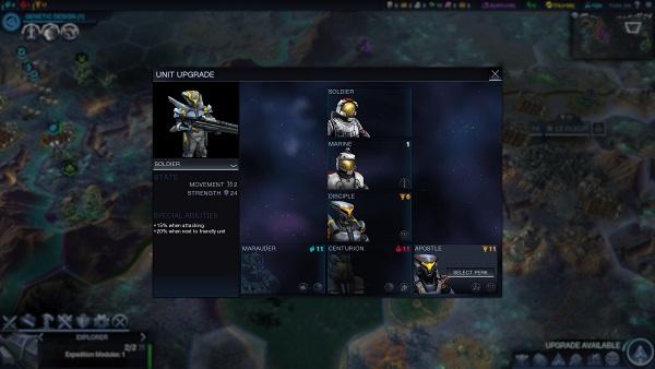 Civilization: Beyond Earth | Unit Upgrades