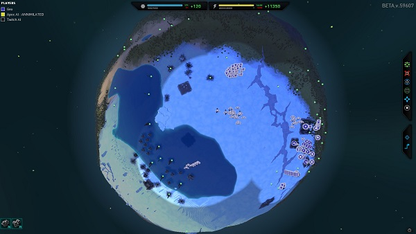 Planetary Annihilation | The minimap is just a zoomed out view