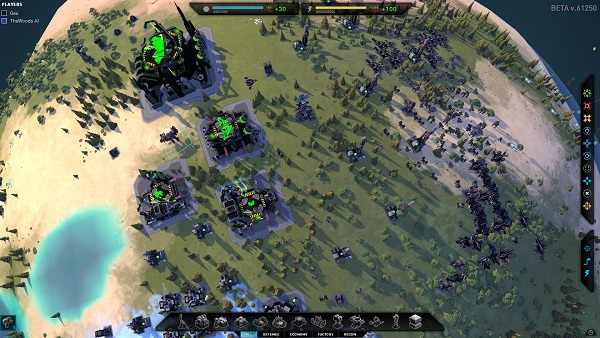 Planetary Annihilation | Even a small base can produce a lot of units
