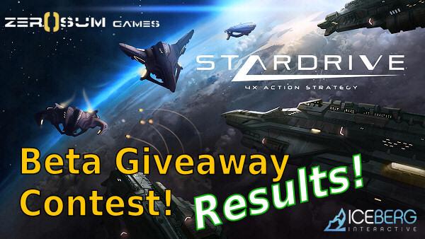 StarDrive Beta Contest Results