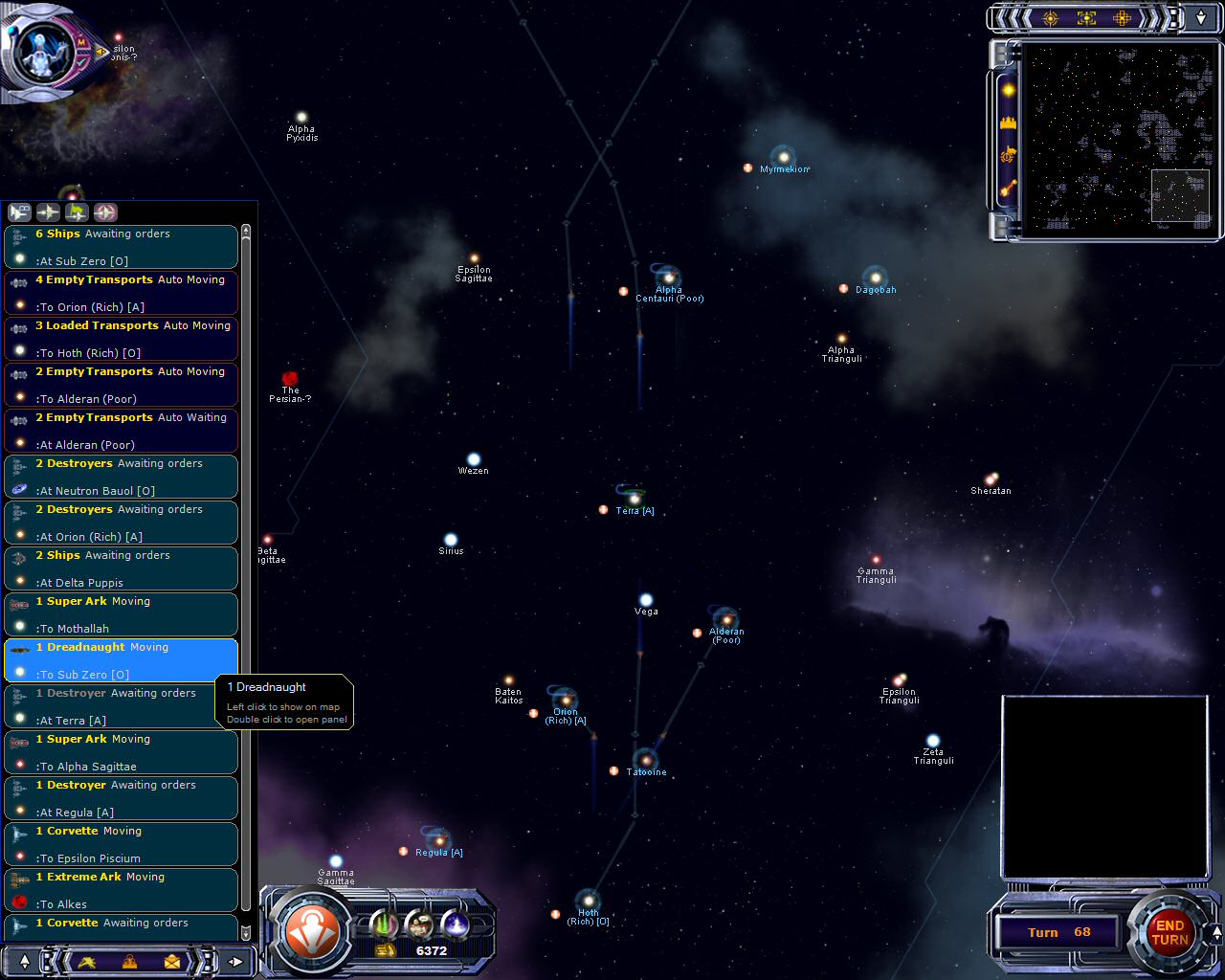 Armada 2526: User Interface - Fleets Management
