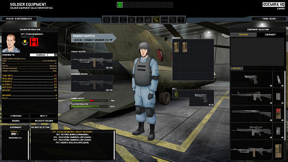 Xenonauts | Soldier equipping screen