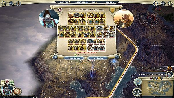Age of Wonders 3 Review - Looks like I have a slim chance to win here...