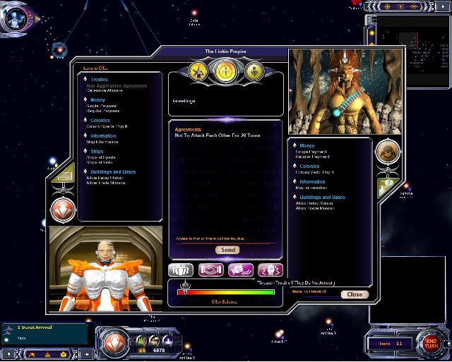 Armada 2526 - Diplomacy Screen