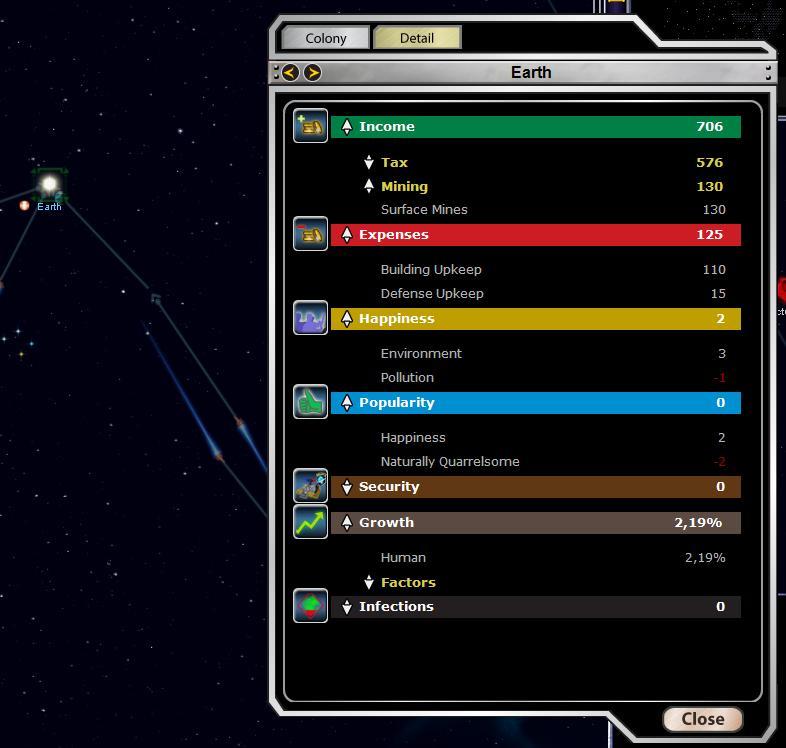Armada 2526 - Planet Stats Screen (detail view)