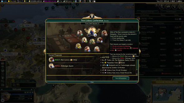 Civilization 5: Brave New World - The World Congress