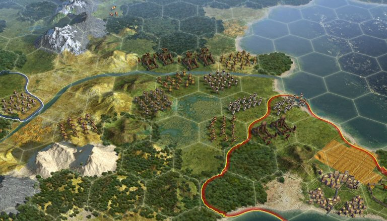 Civilization 5: Hexagon tiles instead of squares