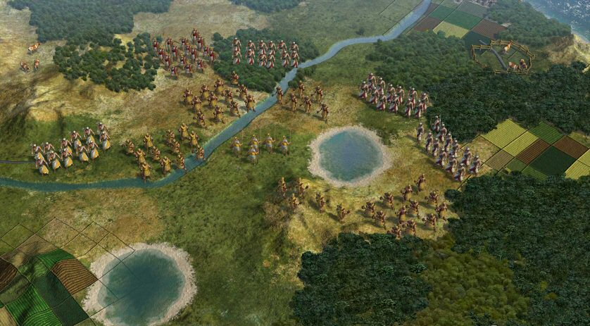 Civilization 5: Troops laid in the battlefield