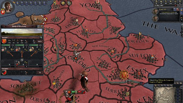 Crusader Kings 2 - The battle system is very detailed