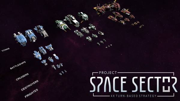 Three different ship visuals (or hulls) for each of the six ship classes, for each race family of ship models (3 races for now). Doom star not shown.