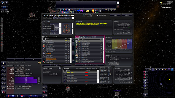 Distant Worlds: Shadows - New ship range and resource shortage highlights