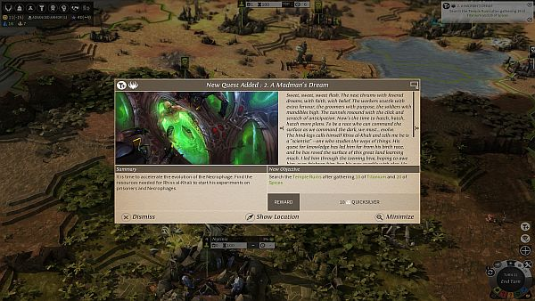 Endless Legend Review| Story quests provide good narrative and goals to work towards.