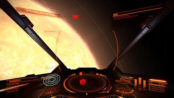 Elite: Dangerous | Oops, jumped next to a star... Boy, it's getting hot in here.