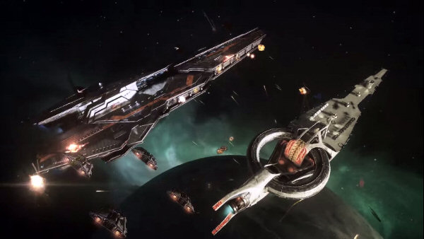 Elite: Dangerous | Capital ship battle video